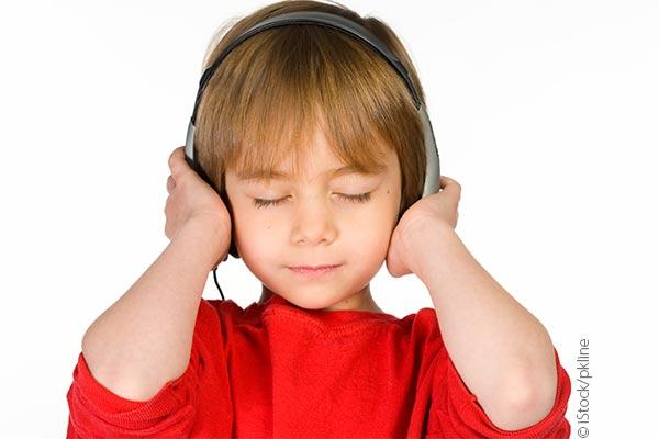 boy using headphones