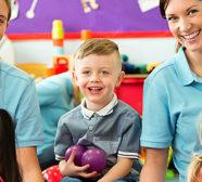 preschoolers with teachers